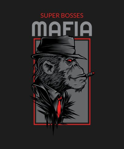 T-Shirt Design Maker Featuring Mafia Animals Graphics with Street Art Style 33-el