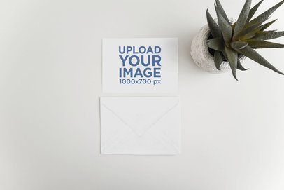 Mockup of a Postcard and an Envelope with a Desert Plant 934-el
