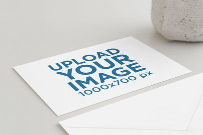 Greeting Card Mockup Featuring a Plain Surface 936-el