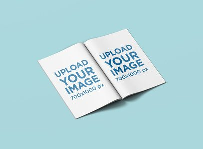 Open Magazine Mockup with a Customizable Surface 1464-el