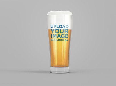 Minimalistic Mockup of a Beer Glass 1444-el