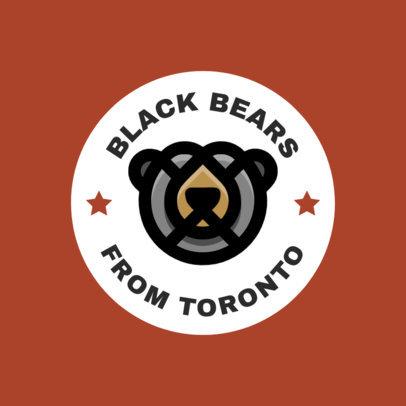 Sports Logo Maker with a Minimalistic Bear Icon 1561f-334-el