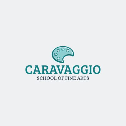 Fine Arts School Logo Template with a Paint Palette Graphic 234a-el