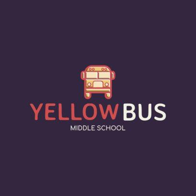 Middle School Logo Creator with a Bus Clipart 234c-el