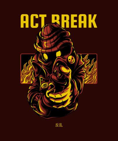 T-Shirt Design Maker Featuring an Anonymous Graffiti Artist 4e-el
