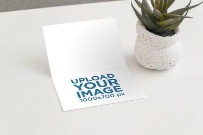 Mockup of a Greeting Card in a Minimalist Setting 943-el1