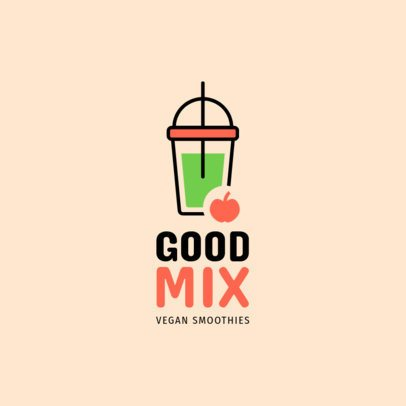 Online Logo Maker for Vegan Smoothies Places 1236j 193-el