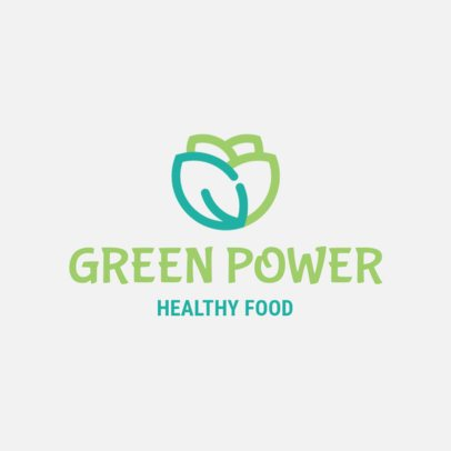 Healthy Food Logo Template Featuring a Vegetable Clipart 1267k 273-el