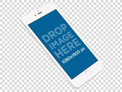 iPhone 6 Plus Floating Over a Transparent Background Mockup a11337
