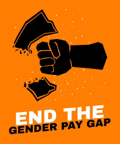 T-Shirt Design Template for an Equal-Pay Cause 2040d