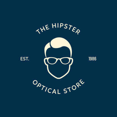 Logo Design Maker for a Hipster Optical Store 1370g-282-el
