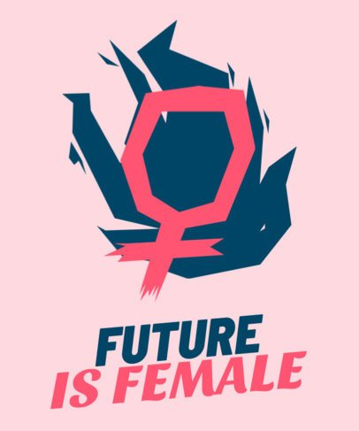 Feminist T-Shirt Design Template with a Bold Style 2040h