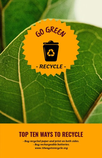 Flyer Template with Info About Recycling 194g-2030
