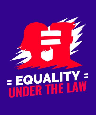 Gender Equality-Themed T-Shirt Design Template 2040l