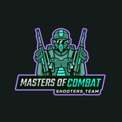 Gaming Logo Creator with a Masked Shooter Illustration 2754b