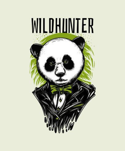 T-Shirt Design Template Featuring a Mafia Panda Character 33e-el