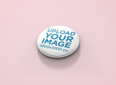Mockup of a Pin-Back Button 1167-el