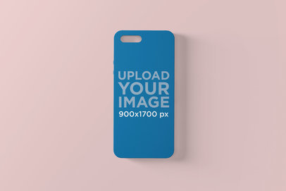Phone Case Mockup Against a Plain Surface 1397-el