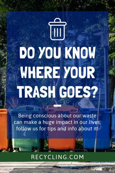 Recycling Awareness Pinterest Pin Maker 2031f