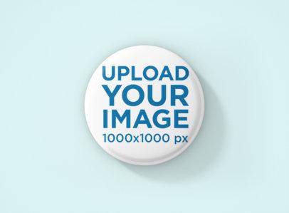 Button Mockup Featuring a Plain Color Backdrop 1168-el