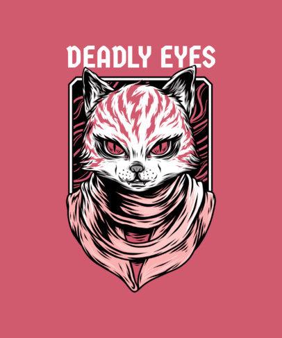 Mafia Animals T-Shirt Design Maker Featuring a Street Art-Style Cat Illustration 33i-el