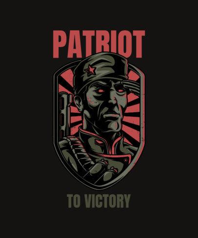 T-Shirt Design Template with Dark Warfare Illustrations 27-el