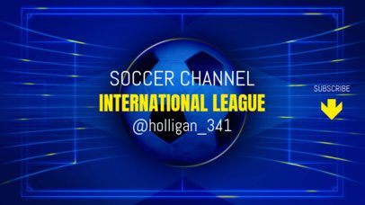 YouTube Sports Banner Maker for a Soccer Channel 2034