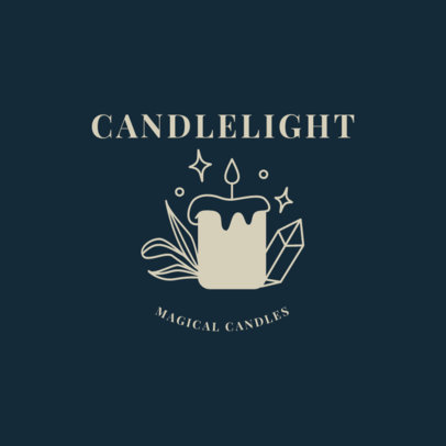 Mysterious Logo Maker with a Candle Clipart