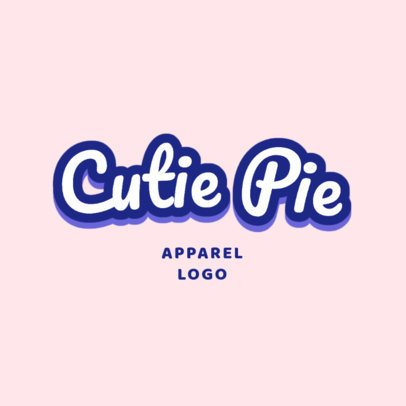 Sweet Type Based Logo Creator for a Clothing Brand 2750b