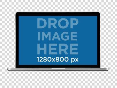 Macbook Pro Mockup Floating Over a Transparent Background a11409