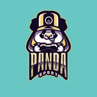 Logo Maker Featuring an Illustrated Panda Gamer 2755g