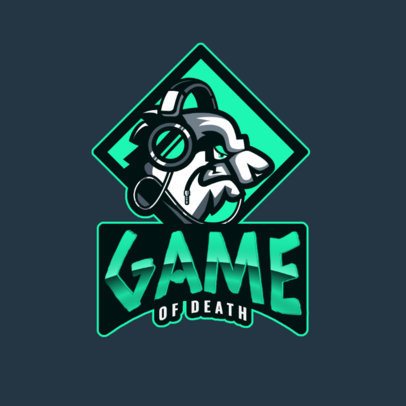 Logo Generator for a Gaming Squad Featuring a Panda with Headphones 2755l