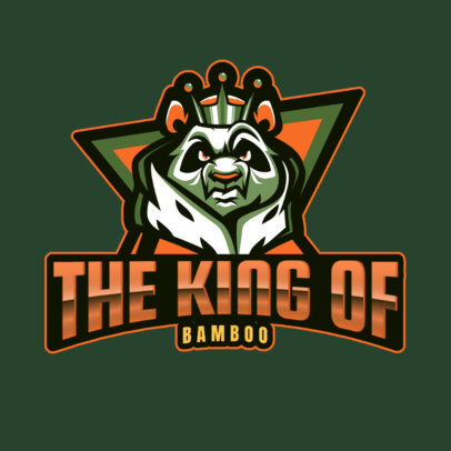 Gaming Logo Creator Featuring a King Panda Illustration 2755f