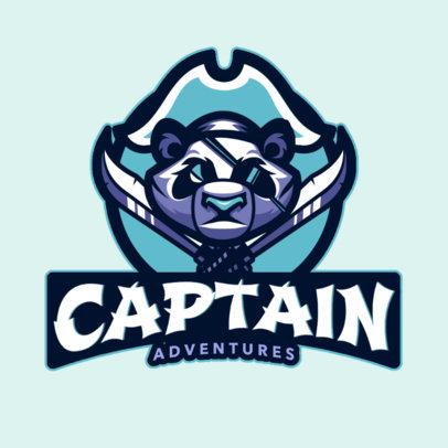 Gaming Logo Template with a Panda Emblem Graphic 2755k