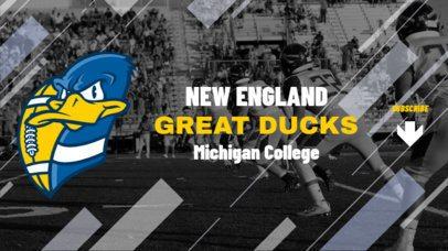 Football YouTube Banner Maker Featuring a Duck Cartoon 2033b
