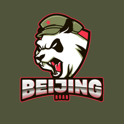 Gaming Logo Maker Featuring an Aggressive Panda Graphic 2755m