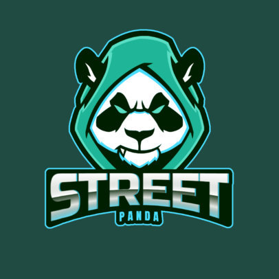 Gaming Logo Template Featuring a Panda with a Hoodie 2755n