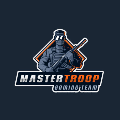Gaming Logo Generator Featuring a Masked Commander 2754m
