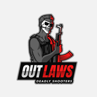 Gaming Logo Maker Featuring a Deadly Outlaw with a Skeleton Mask 2754l