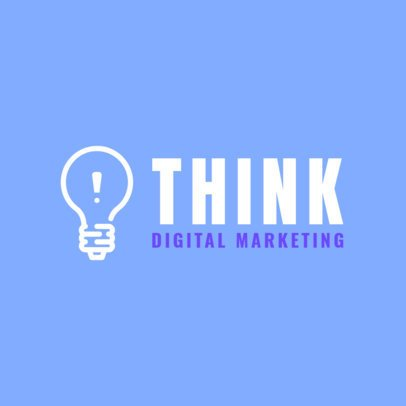 Minimal Logo Template for a Digital Marketing Agency 2227h 266-el