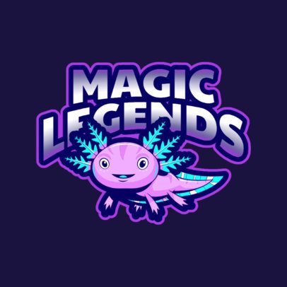 Gaming Logo Maker Featuring Cute Fantasy Animals 2766