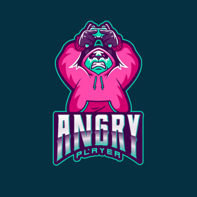 Logo Maker Featuring an Angry Panda Illustration for Gaming Teams 2755w
