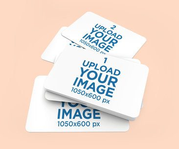 Mockup of a Bunch of Business Cards with Customizable Background 1551-el