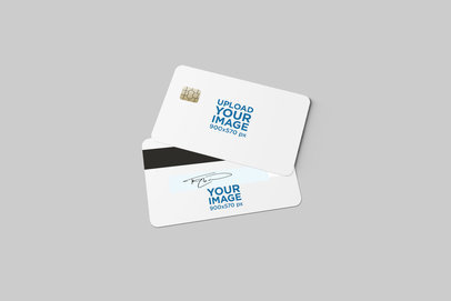 Two Sides View Mockup of a Credit Card 1643-el