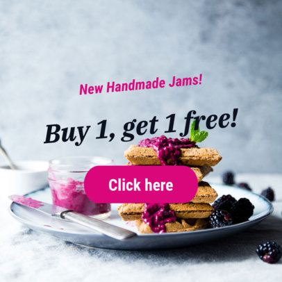 Online Banner Maker for a Handmade Jams Sale 290i-2032