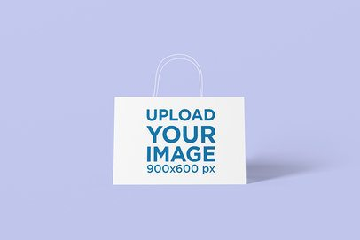 Mockup of a Gift Bag Placed on a Solid Surface 1472-el