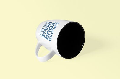 Coffee Mug Mockup Lying on Its Side 1098-el