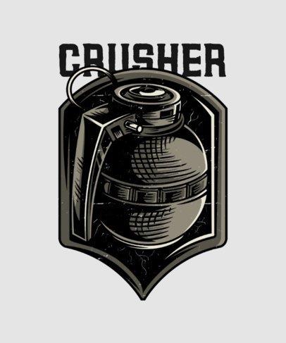 T-Shirt Design Maker with an Illustrated Hand Grenade 27g-el