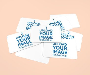 Mockup of a Bunch of Business Cards on a Plain Surface 1554-el