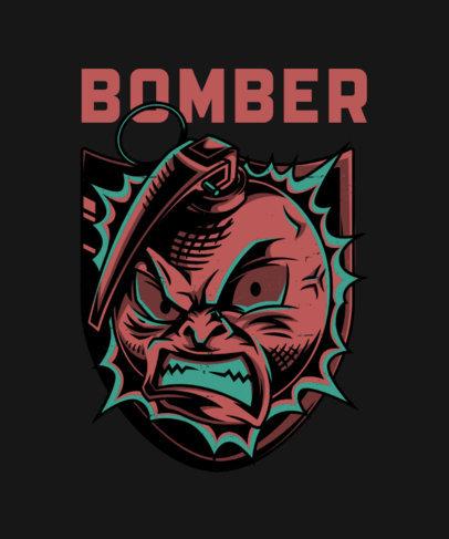 T-Shirt Design Generator with a Furious Grenade-Character 27j-el